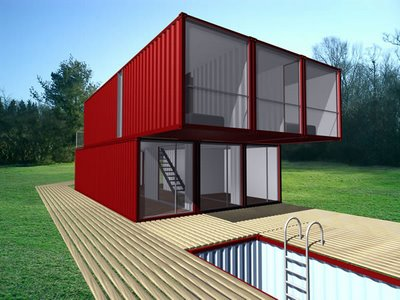 Container home kit bldgblog back in july lot ek announced their container home kit a prefab do it yourself assembly unit that combines multiple shipping containers to build modern solutioingenieria Choice Image
